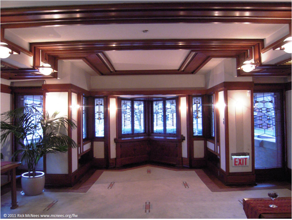 Frank Lloyd Wright Robie House Living Room West ...