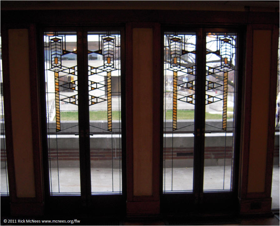 ... Frank Lloyd Wright Robie House - Living Room Windoors South & Frank Lloyd Wright Prairie School Architecture - Robie House in ...