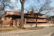 Frank Lloyd Wright architecture in Chicago - Robie House on McNees.org/flw