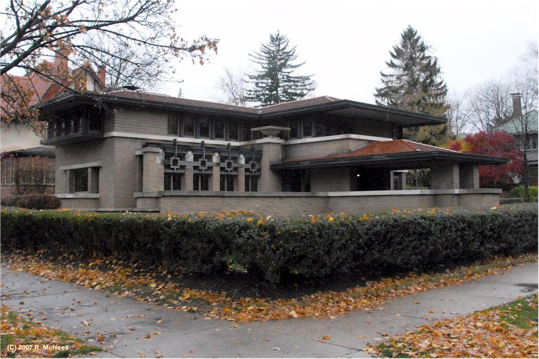 Meyer May House 1909 Grand Rapids Michigan Prairie
