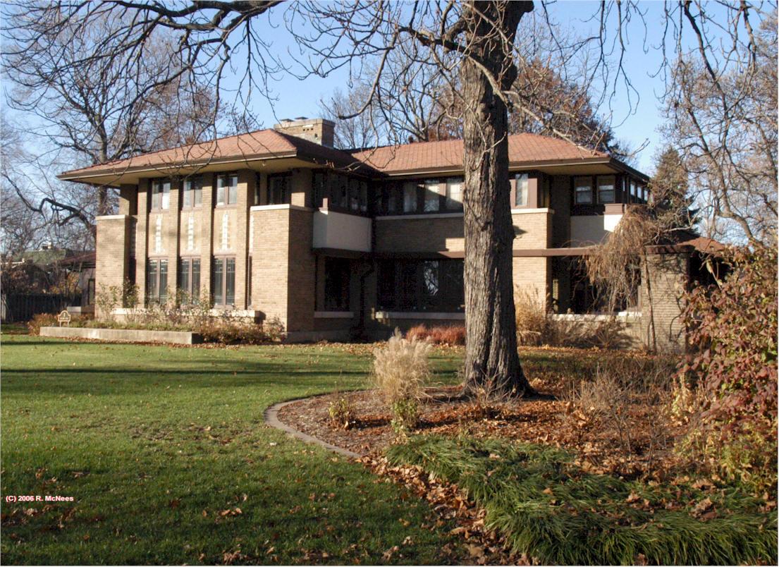 Frank Lloyd Wright Prairie School Architecture In Decatur
