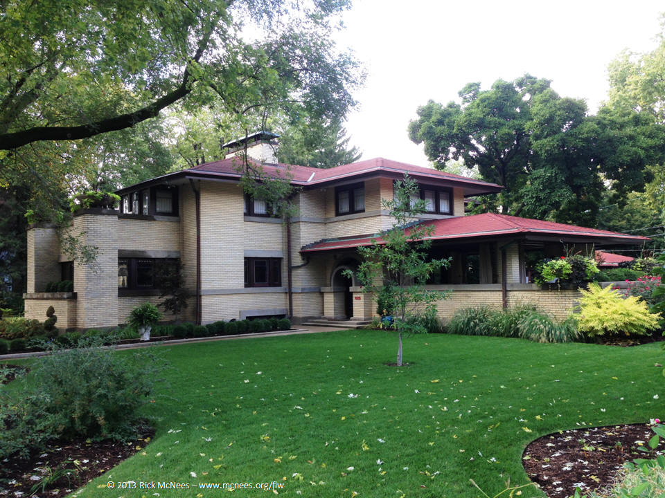 Francis Little House By Frank Lloyd Wright In Peoria Illinois