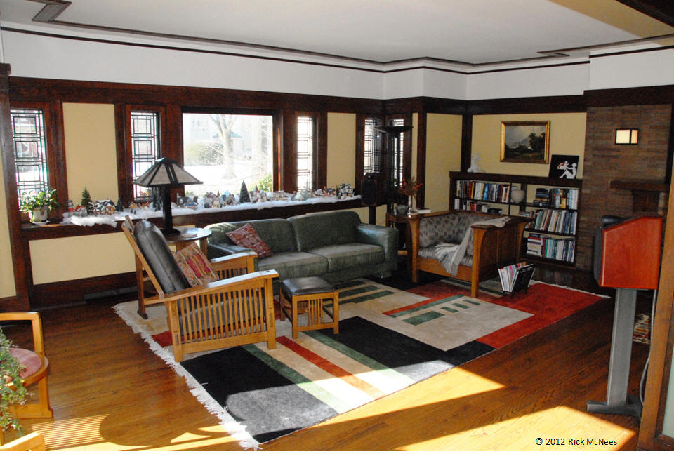 William Martin House   Frank Lloyd Wright   Living Room Front Part 12