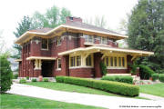 Prairie architecture in Quincy, Illinois