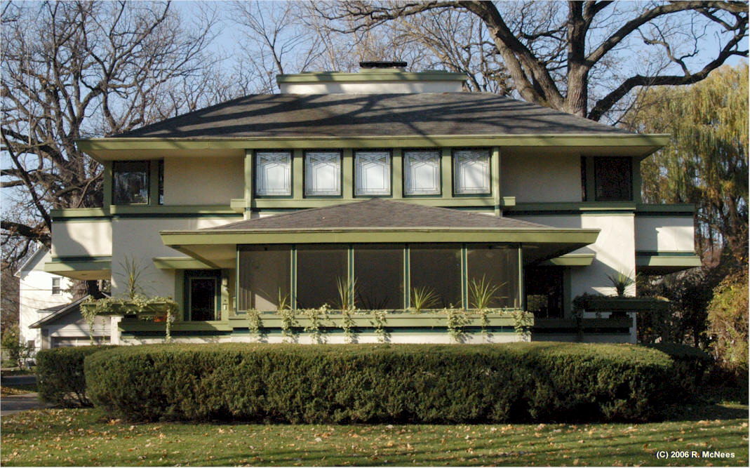 Frank lloyd wright prairie school architecture photo for Frank lloyd wright river house