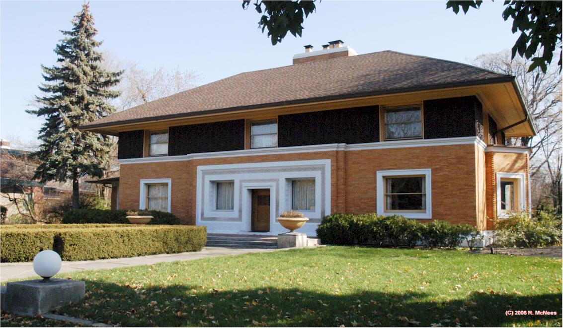 Frank lloyd wright prairie school architecture in river for Frank lloyd wright river house