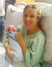 Erin and newborn Lucy Leigh Fort - 11/22/2010