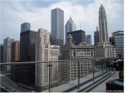 Cityscape view from Chicago Trump Tower Terrace