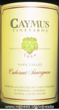 Caymus Napa Valley Estate Cabernet Sauvignon 2006 label