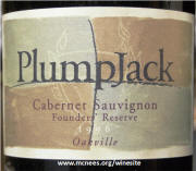 Plumpjack Founders Reserve Oakville Cabernet Sauvignon 1996