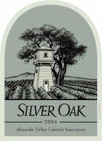 Silver Oak Alexander Valley 2004 label