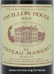 Pavillon Rouge du Chateau Marqaux 2004 label