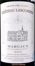 Chateau Lascombes Grand Cru Classe Marqaux 2004 label