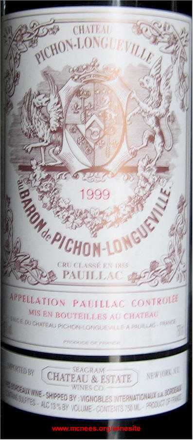 Pauillac Bordeaux Wine Labels On Rick S Winesite