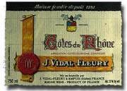 J Vidal Fleury Cotes du Rhone 2006 label