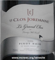 Le Clos Jordanne Le Grand Close 2006 Label