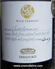 Errazuriz Wild Yeast Chardonnay 2009