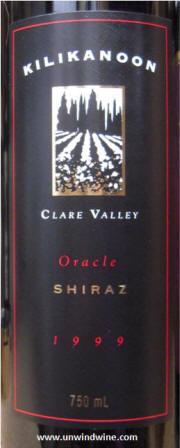 Kilikanoon Oracle Shiraz 1999 label