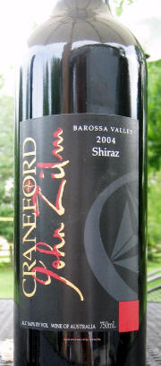Craneford John Zulm Barossa Shiraz 2003 Label on McNees Winesite