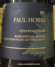 Paul Hobbs Ross Station Estate Russian River Valley Sonoma County Chardonnay 2012