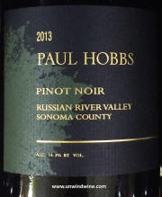 Paul Hobbs Russian River Valley Sonoma County Pinot Noir 2013
