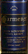 Carmenet Moon Mountain Meritage 1995