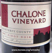Chalone Monterey County Pinot Noir 2005 label