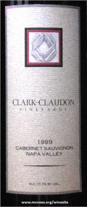 Clark Claudon Cabernet Sauvignon 1999