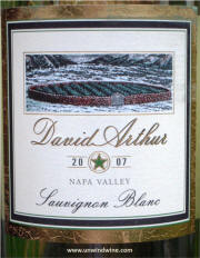 David Arthur Napa Valley Sauvignon Blanc 2007