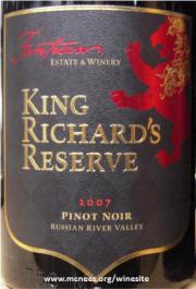 Fantesca King Richards Russian River Valley Pinot Noir 2007