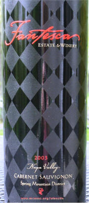 Label Fantesca Cabernet 2003