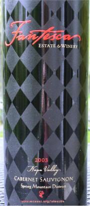 Label Fantesca Cabernet 2003