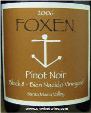 Foxen Block 8 Bien Nacido Vineyard Santa Maria Valley 2006