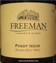 Freeman Russian River Valley Pinot Noir 2006