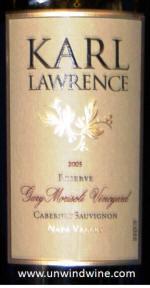 Karl Lawrence Morisoli Napa Valley Cabernet Sauvignon 2005