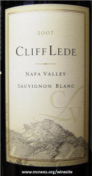 Cliff Lede Sauvignon Blanc 2007