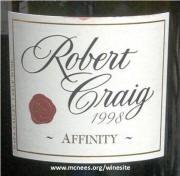 Robert Craig Affinity Cabernet Sauvignon 1998 label