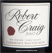Robert Craig Mt Veeder Cabernet Sauvignon 2007