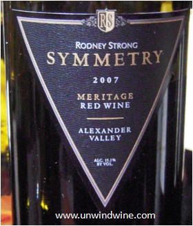 Rodney Strong Symmetry Meritage 2011 Bordeaux Red Blends Wine Red Blends Wine