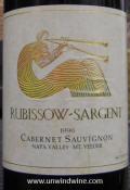 Rubissow-Sargent Napa Valley Mt Veeder Cabernet Sauvignon 1996