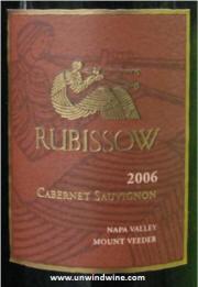 Rubissow Napa Valley Mt Veeder Cabernet Sauvignon 2006