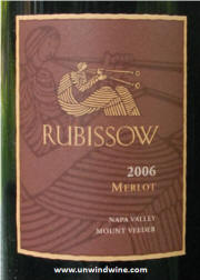 Rubissow Napa Valley Merlot 2006