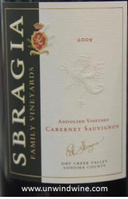 Sbragia Sonoma Andolson Vineyard Cabernet Sauvignon 2009