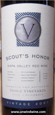 Venge Scout's Honor Red Wine Blend 2007