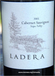 Ladera Napa Valley Cabernet Sauvignon 2005 label