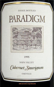 Paradigm Napa Valley Cabernet Sauvignon 1995 Label