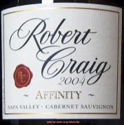 Robert Craig Affinity Label 2004 on Rick's Winesite on McNees.org/winesite