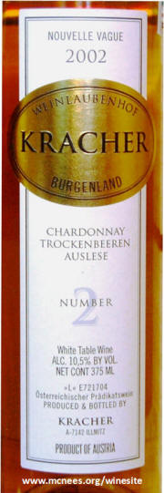 Kracher #2 Nouvelle Vague Chardonnay TBA 2002 label
