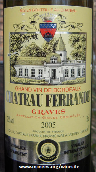 Rick 39 s winesite tasting journal 2010 second half for Chateau ferrande