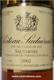Chateau Suduiraut 2002